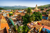 Aerial view of Trinidad in the morning. Cuba
