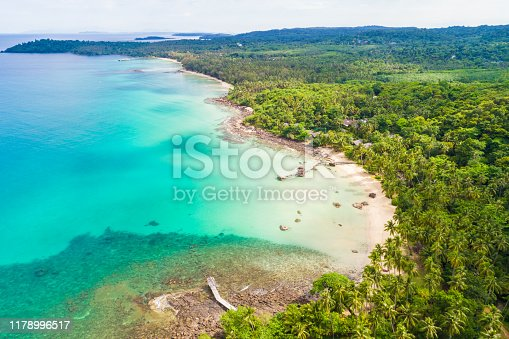 Aerial view paradise island sea beach beautiful of nature landscape