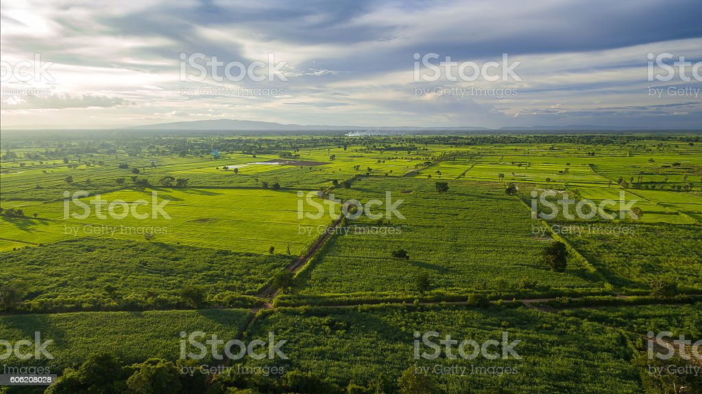 Aerial view stock photo