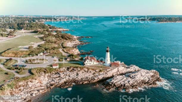 Photo of Aerial View Portland Head Lighthouse Maine USA