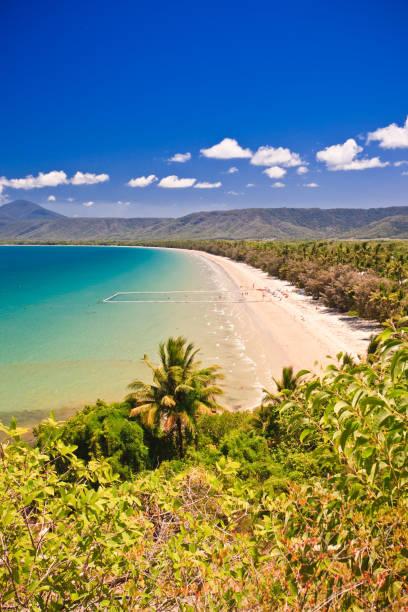 Luftbildporträt eines Strandes – Foto