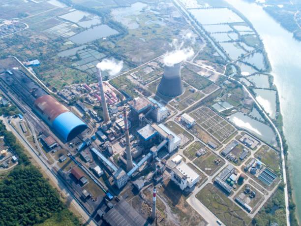 Luftbildkraftwerk, KombikraftwerkS-Kraftwerksindustrie. – Foto