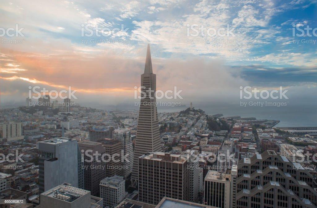 Aerial View San Francisco Skyline stock photo