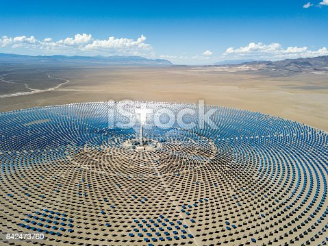 istock Aerial View Solar Thermal Power Plant Station 842473760