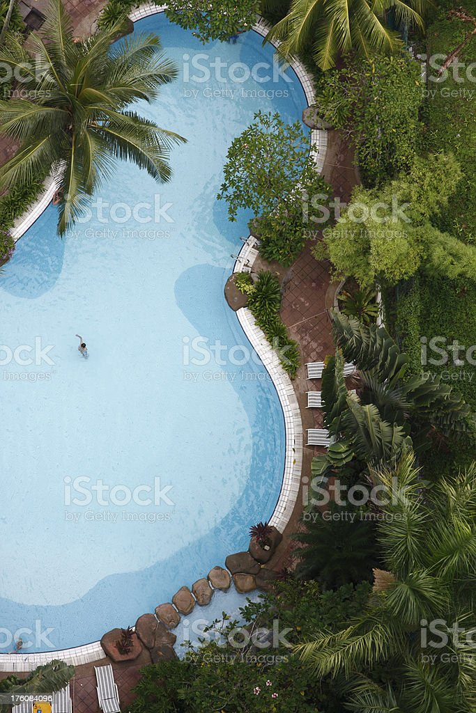 Aerial View Swimming Pool stock photo
