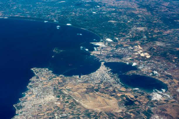 Aerial View Taranto Stadt – Foto