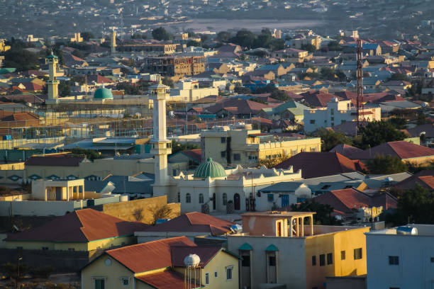 aerial view to hargeisa, biggest city of somaliland somalia - somalia stock photos and pictures