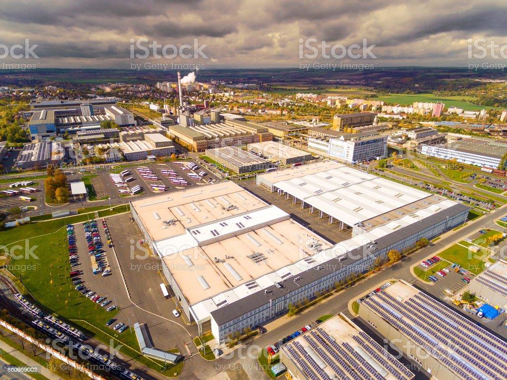 Luftaufnahme, industrielle Zone und Technologiepark. – Foto