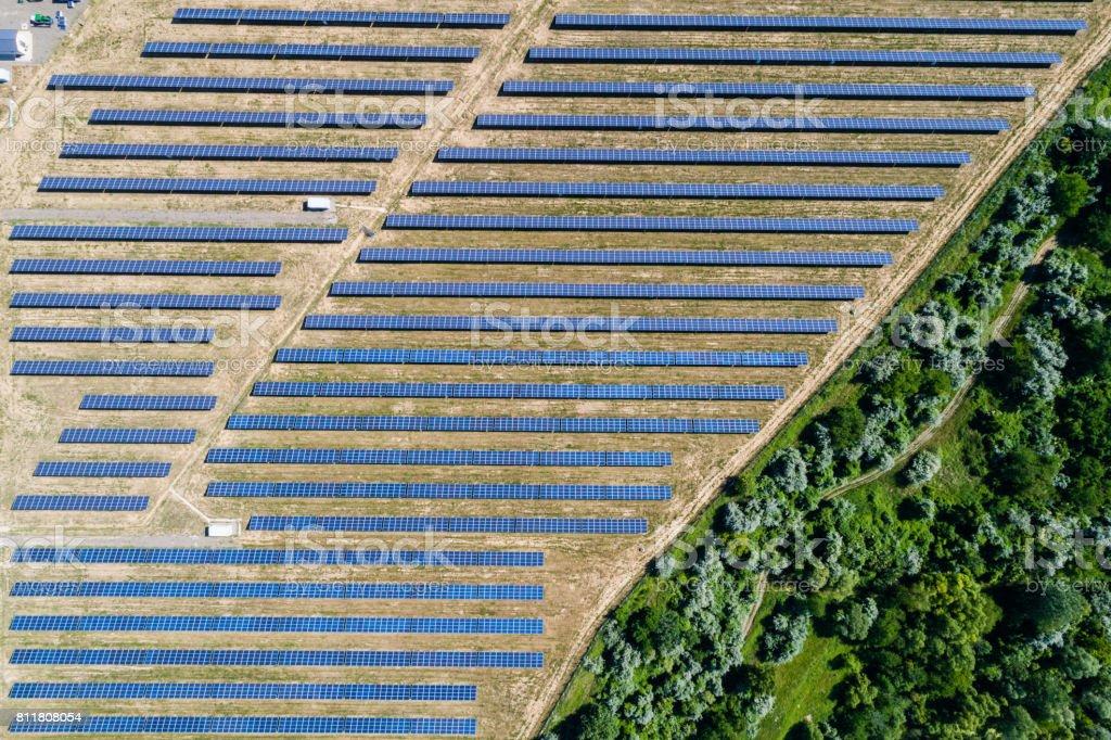 Luftbild, Solarkraftwerk – Foto