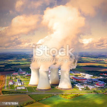 istock Aerial view to Temelin nuclear power plant.  This power station is important source of electricity for Czech Republic in European Union. 1187678084