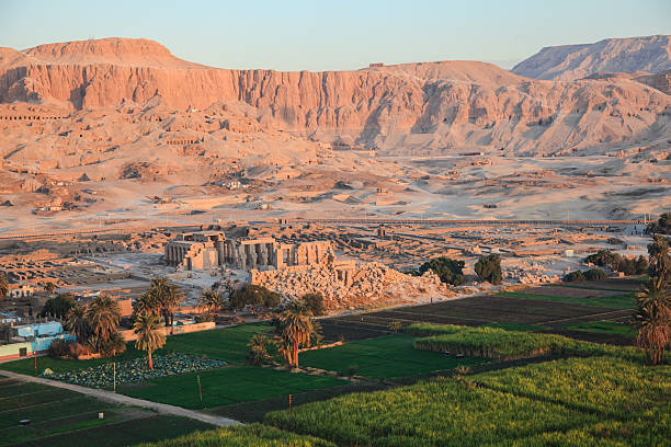 Aerial view valley of the king Aerial view of the valley of the kings in luxor, egypt valley of the kings stock pictures, royalty-free photos & images