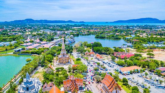 istock Aerial view  Wat Chalong or formally Wat Chaiyathararam in Phuket, Thailand 1002167904