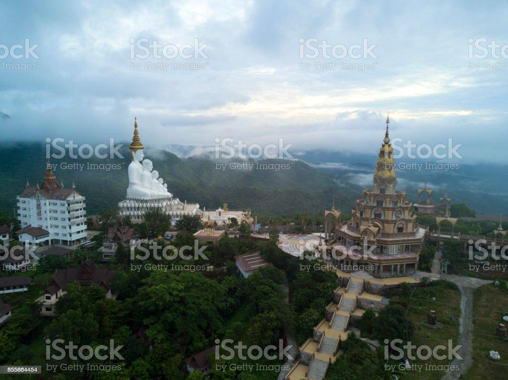 Aerial view Wat Phra That Pha Son Kaew in Phetchabun, Thailand. stock photo
