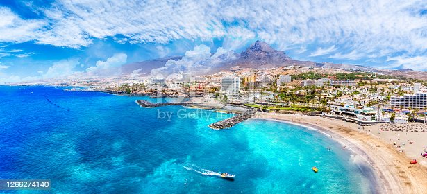 istock Aerial view with Las Americas beach at Costa Adeje 1266274140