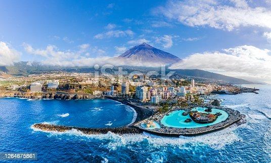 istock Aerial view with Puerto de la Cruz,Tenerife 1264675861