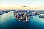 istock Aerial Views of Manhattan Island, New York - Cities under COVID-19 Series 1225159058