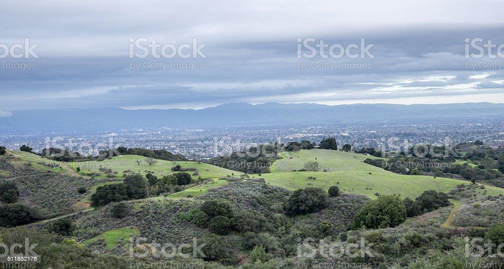 サンフランシスコの上空からの眺...