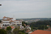 Aerial Views Of The National Palace In Sintra.