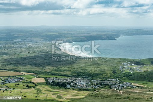 istock aerial views over Holywell Bay and Perranporth, Cornwall 1040890578