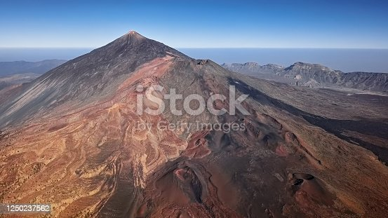 istock Aerial volcanic landscape in Teide National Park, Tenerife, Canary islands, Spain 1250237562