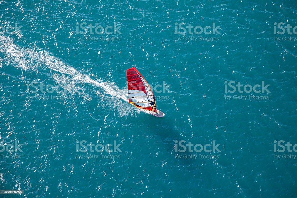 aerial wind-surfer in Aktion – Foto