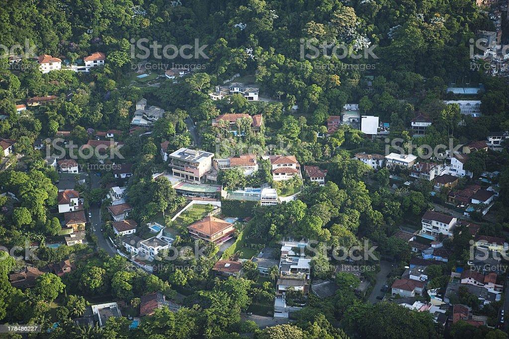 aerial wvew of Gavea stock photo