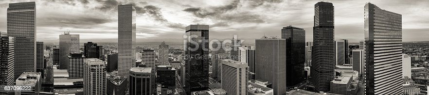istock Aerial/drone panorama of the city of Denver Colorado 637096222
