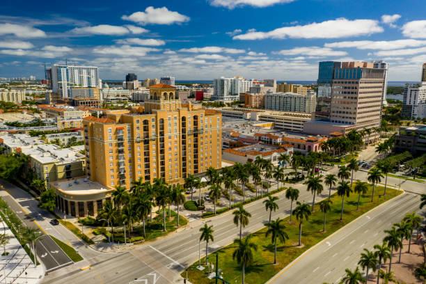 Aerials of Downtown West Palm Beach FL