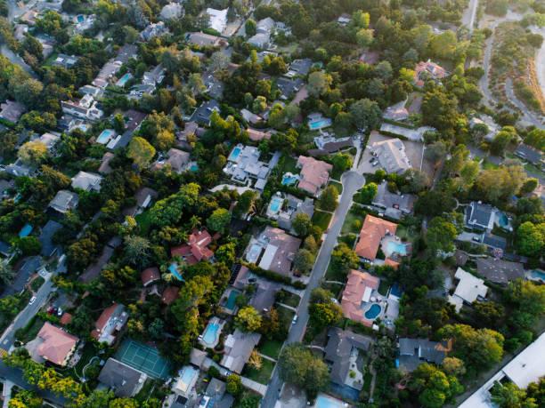 Aerials of Neighborhood stock photo