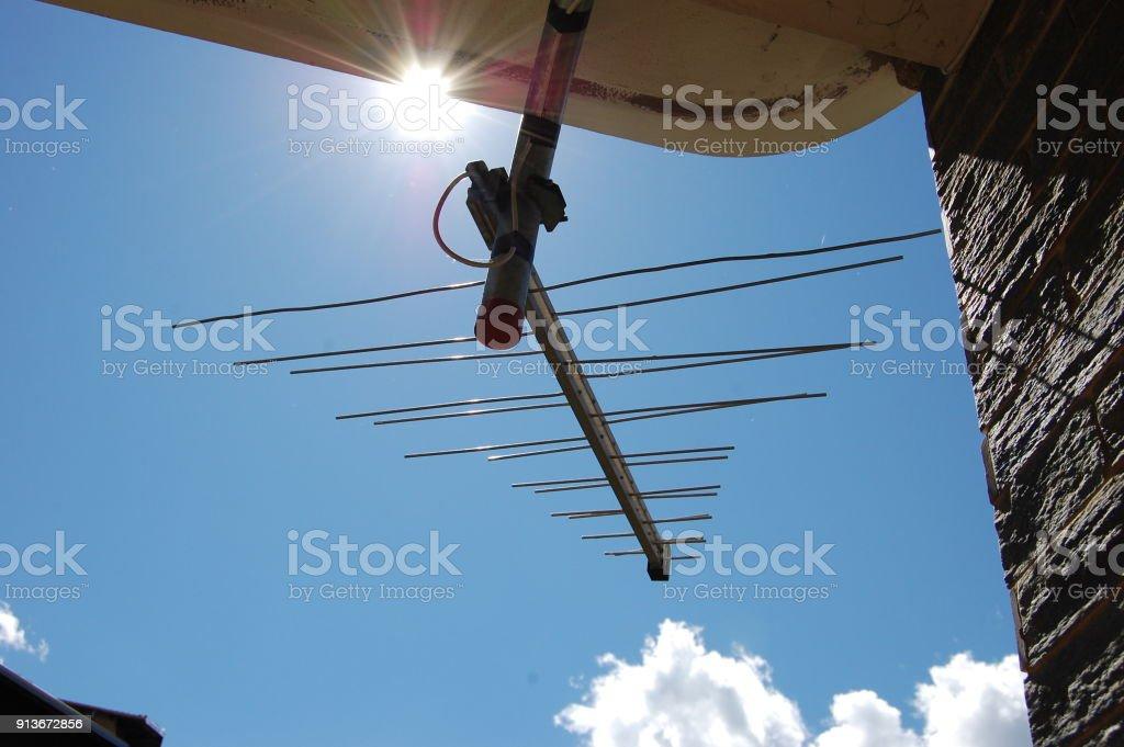 TV aerials stock photo