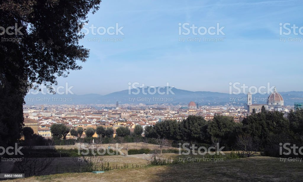 aerialview of florence stock photo