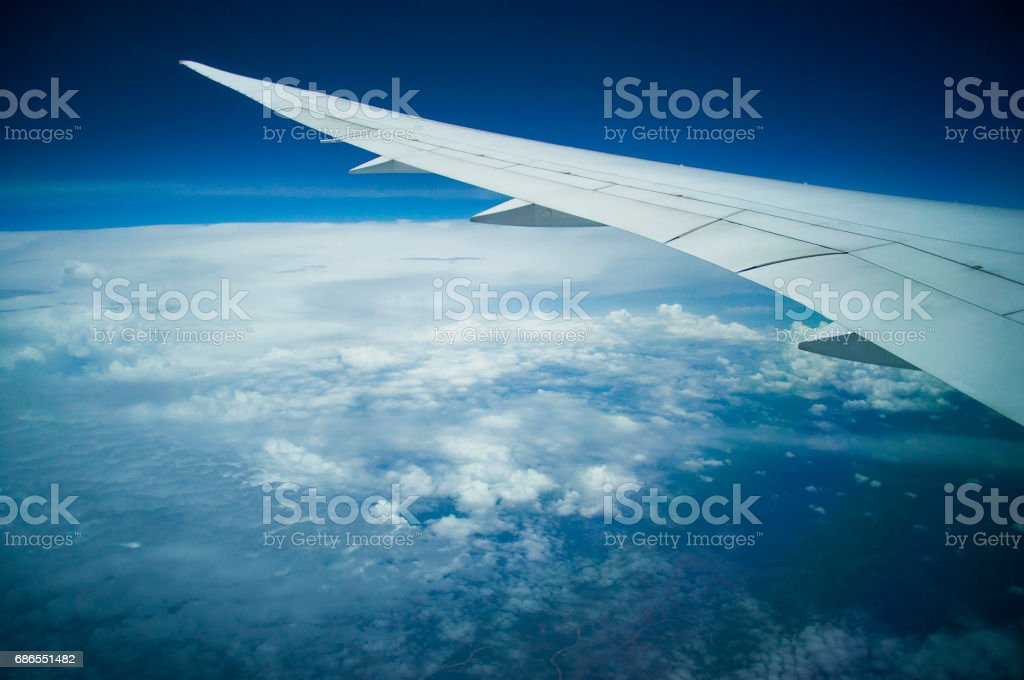 Aeriel view from plane in transportation concept royalty-free stock photo