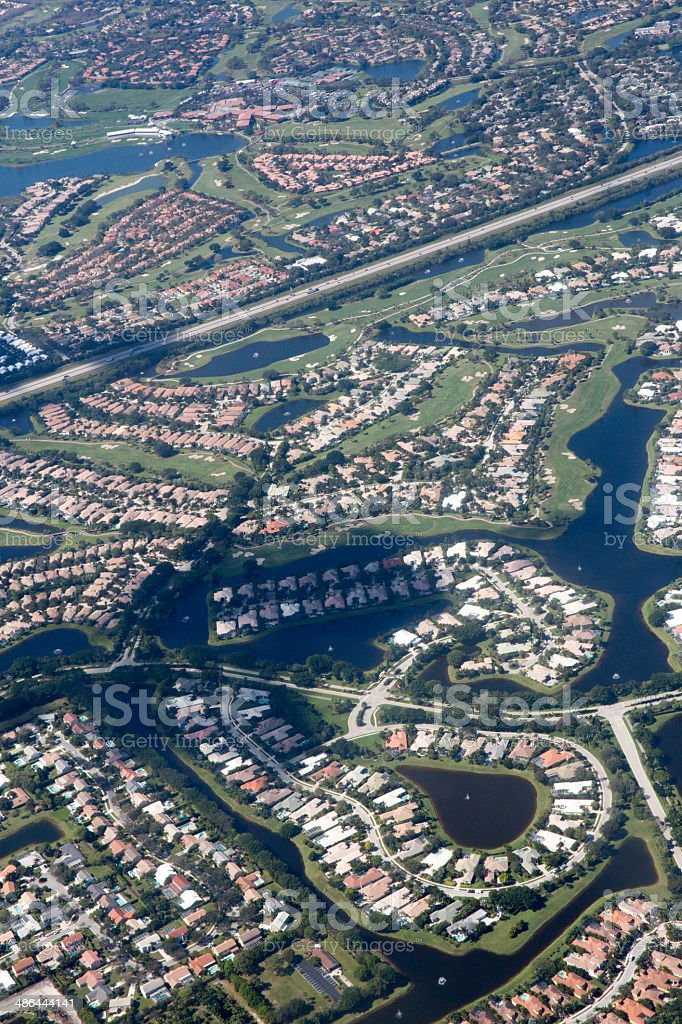 Aeriel view of residential communities royalty-free stock photo