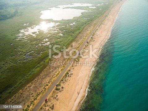 Aerila view of the coastline
