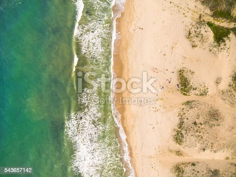 istock Aerila view of the coastline 543657142