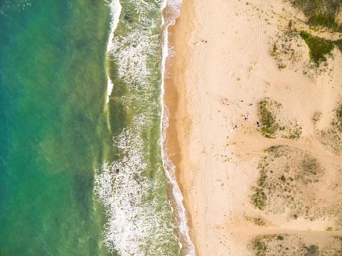 istock Aerila view of the coastline 543657142