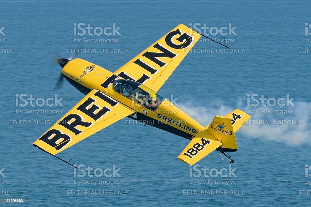 Aerobatic freestyle royalty-free stock photo