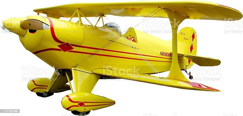 Aerobatic Plane on White royalty-free stock photo