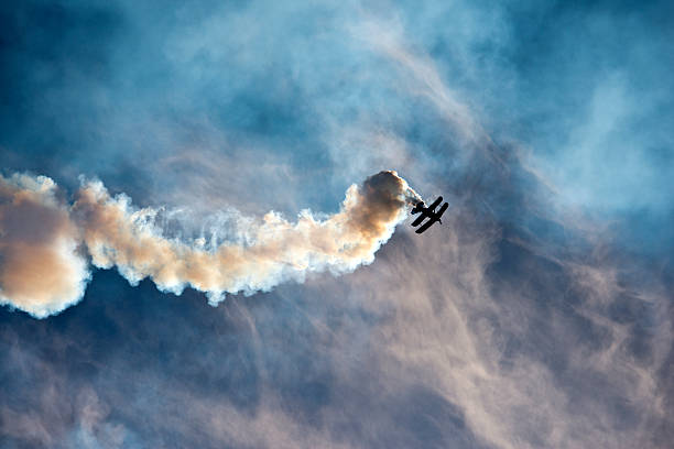 Aerobatic stunt stock photo