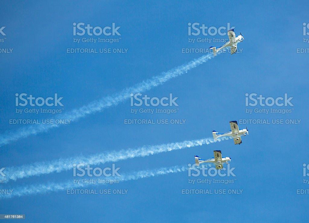 Aerobatic equipo 3 x Fly Sinthesis típicos de primer nivel - foto de stock