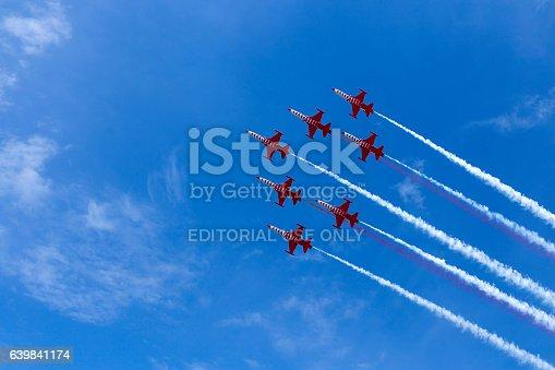 istock Aerobatic team at airshow 639841174