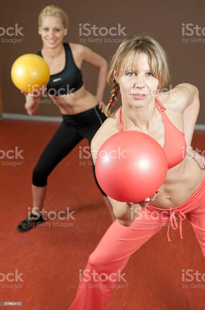 Aerobic class in a gym royalty-free stock photo