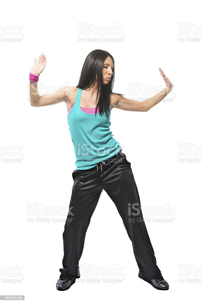 Aerobic dance fitness royalty-free stock photo