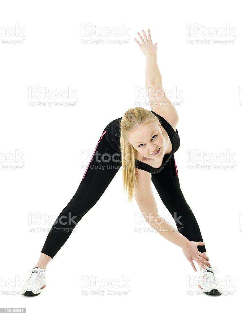 Aerobic woman royalty-free stock photo