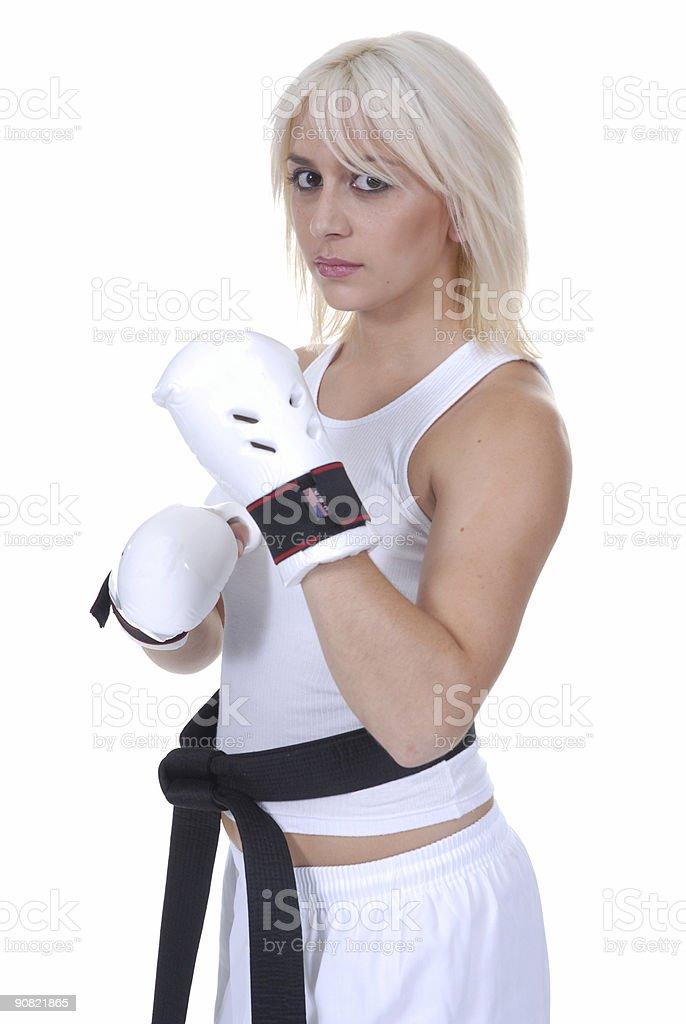 Aerobic workout royalty-free stock photo