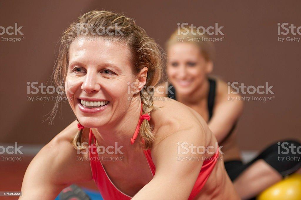 Aerobics Class in a gym club royalty-free stock photo