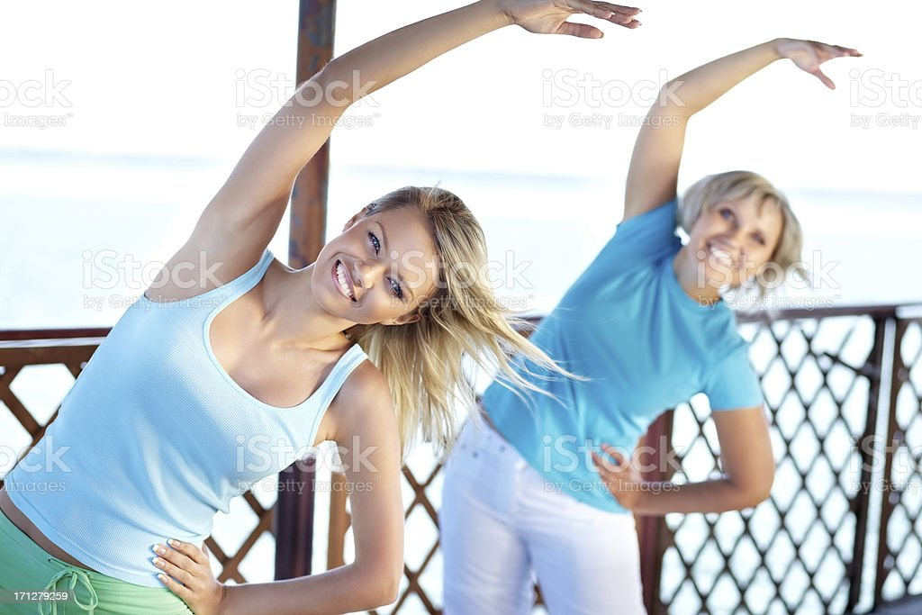 Aerobics for women royalty-free stock photo