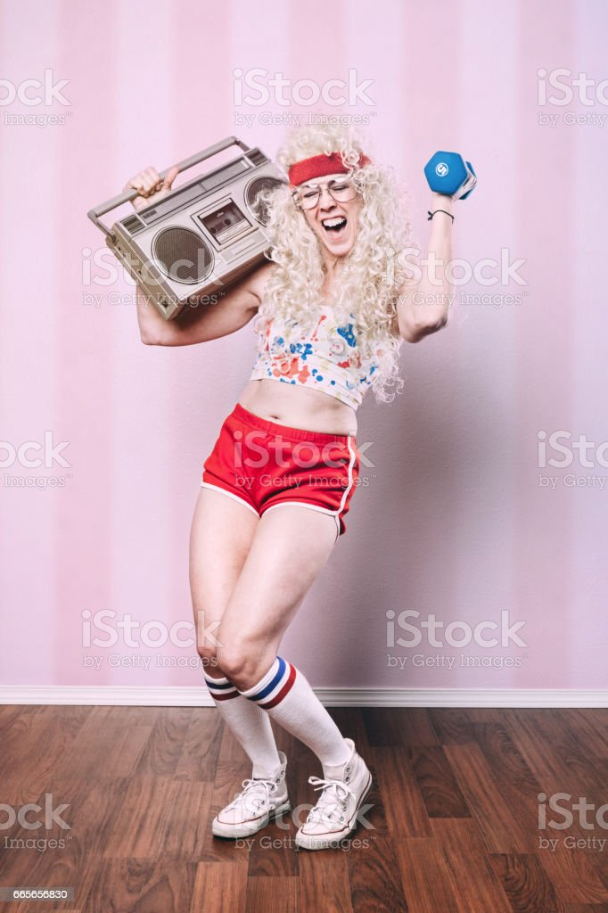 Aerobics Teacher Working Out stock photo