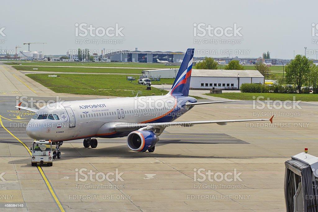 Aeroflot Airbus A320-214 royalty-free stock photo