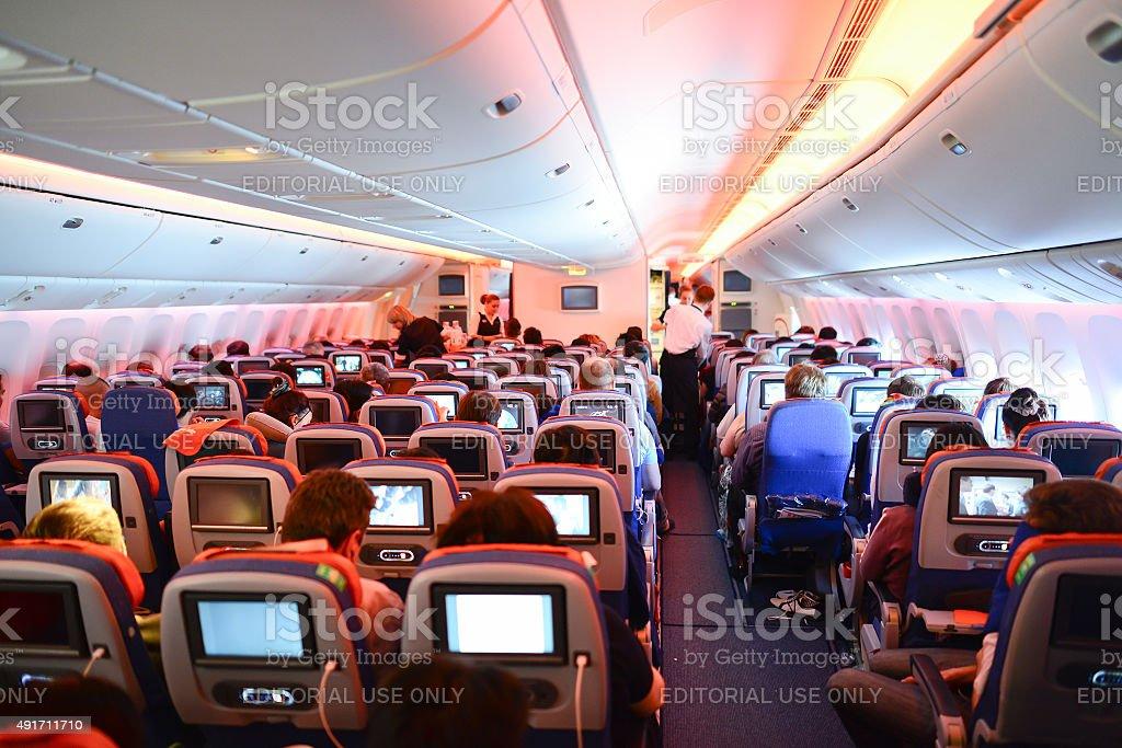 Aeroflot boeing 777 int rieur stock photo libre de droits for Interieur qatar airways